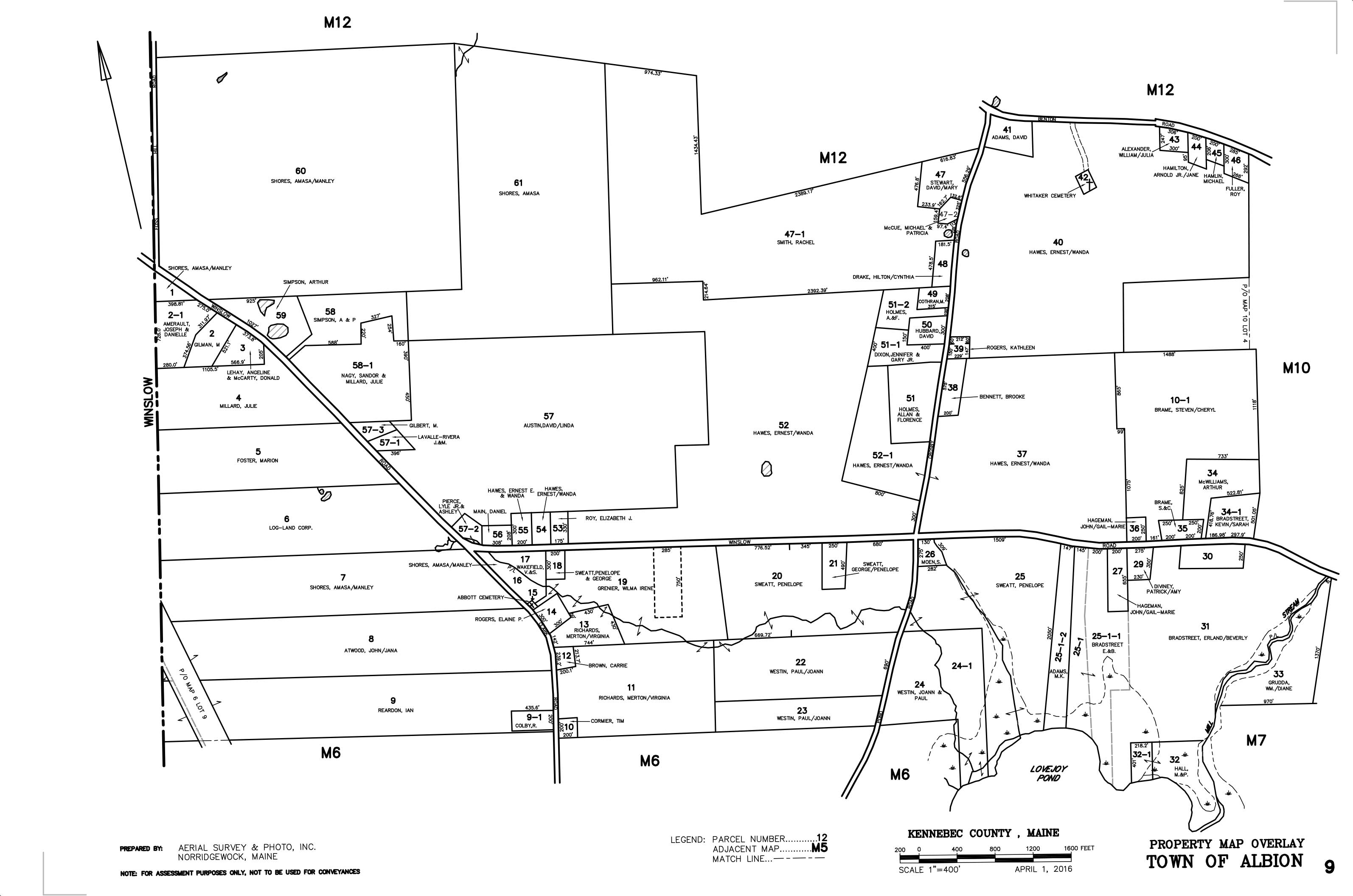 Property Line Map Real Estate & Property Tax Commitment Books & Maps   Albion, Maine Property Line Map