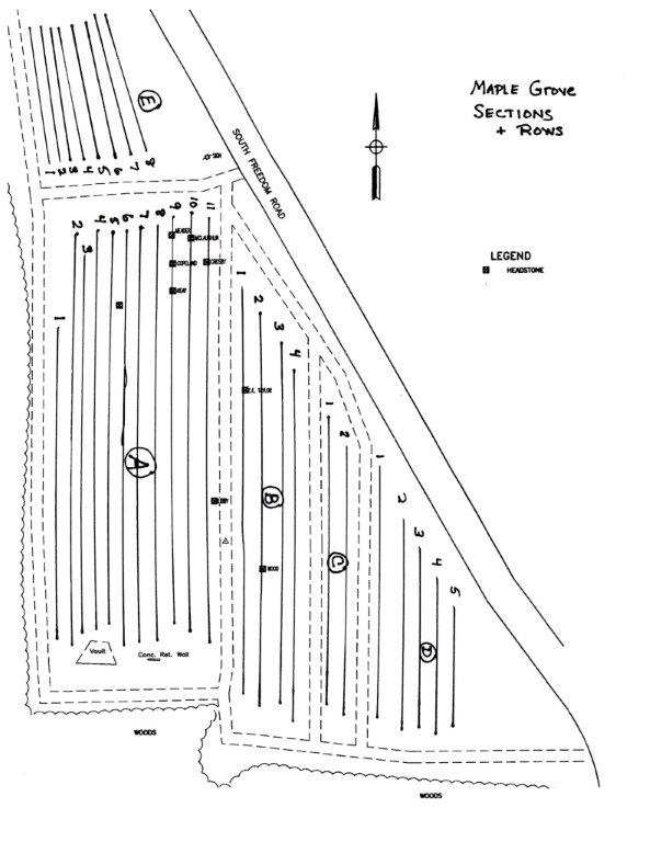Maple Grove Cemetery map