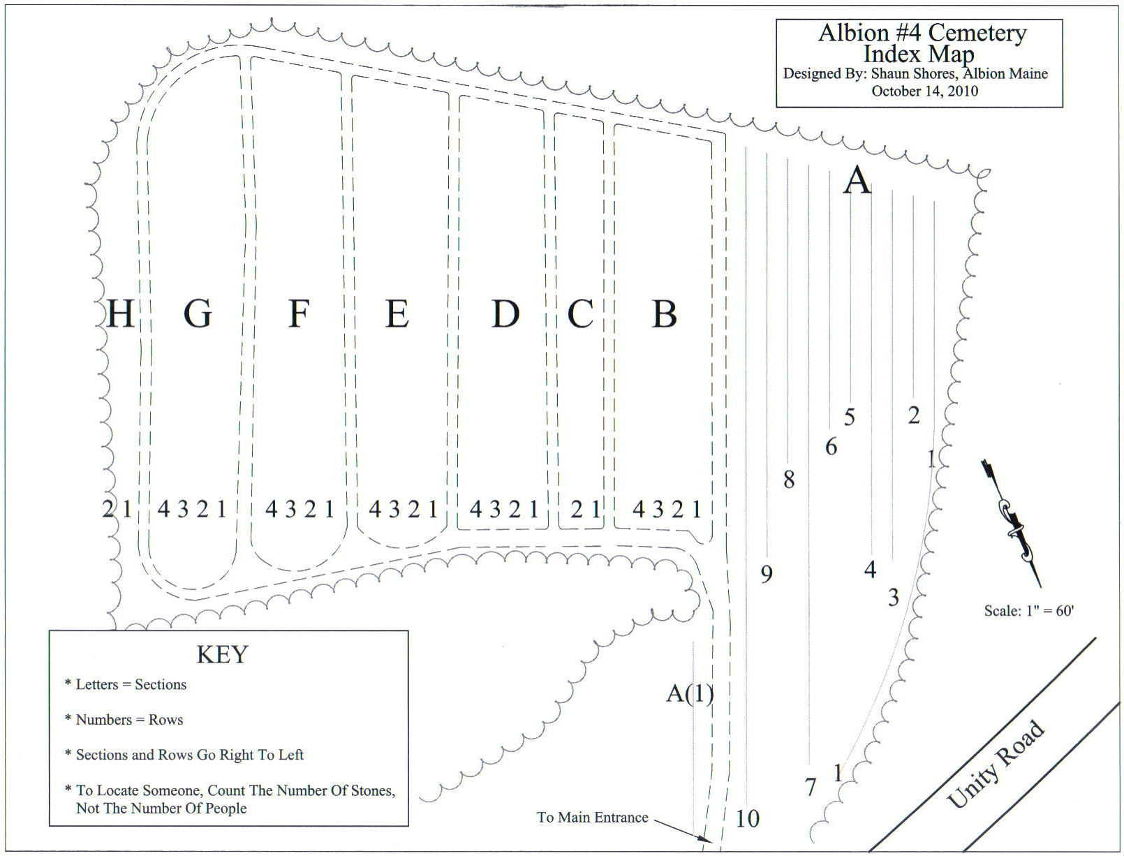 Number 4 Cemetery Map